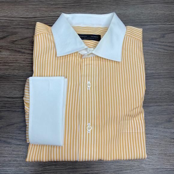 Robert Talbott Yellow Stripe French Cuff Shirt